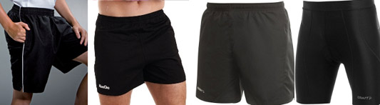 black jogging shorts