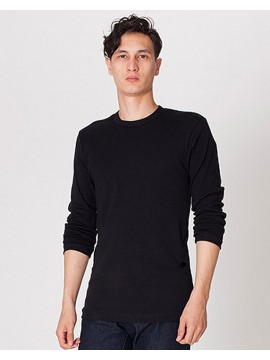 Long Sleeve Black American Apparel Jersey Crewneck Top
