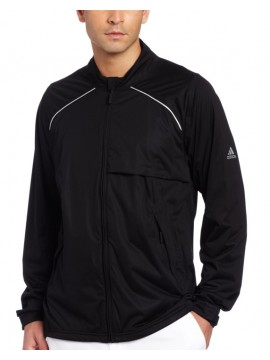 Adidas Waterproof® Black Softshell Zip Jacket