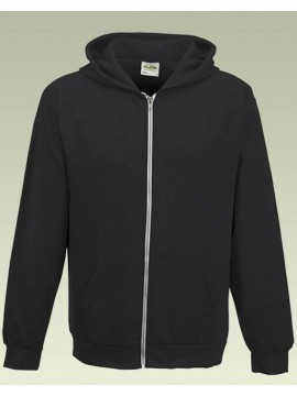 American Apparel Youth Zip Through Black Hoodie