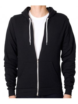 Anvil Full Zip Hooded Black Sweatshirt