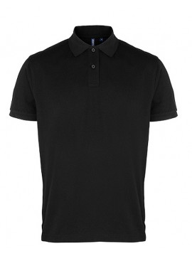 Asquith & Fox Mens Plain Black Polo Shirt not