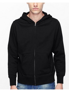 B&C Collection Black Mens Monster full zip fitted Hoodie