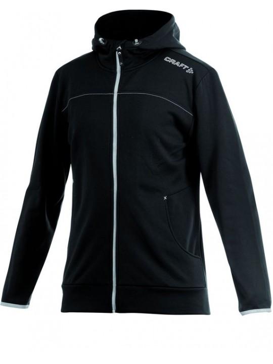 Craft Sports Leisure Black Polyester Zip Through Hoodie