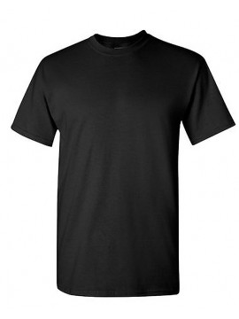 Gildan Black Heavyweight Adults Crewneck Tshirt