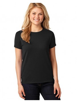 Womens Black Gildan Heavywieght Fitted Tshirt