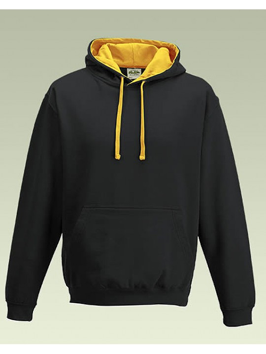 33ee4d1609ee AWD Black with Gold Hood Contrast Pullover Hoodie Top