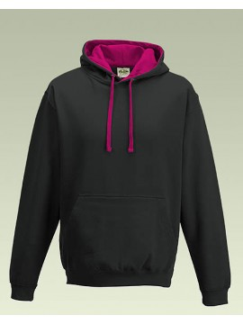 AWD Black with Hot Pink Hood Pullover Hoodie Top