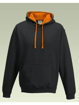 AWD Black with Orange Crush Hood Pullover Hoodie Top