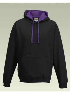 AWD Black with Purple Hood Pullover Hoodie Top