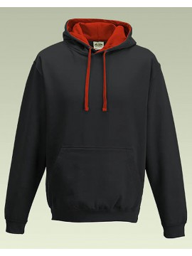 AWD Black with Red Hood Pullover Hoodie Top