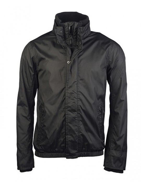 Zip Jackets in Black Fleece lined blouson KARIBAN  Jacket