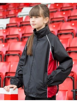 Finden Hales Kids Black and red Waterproof training Track Jacket