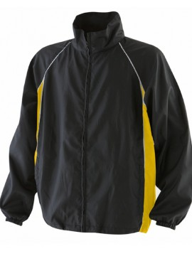Finden Hales Kids black and yellow Waterproof training Track Jacket