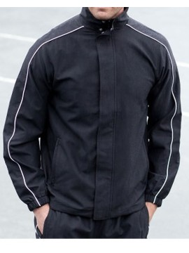 Finden Hales black piped Track Jacket Top