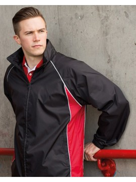 Finden Hales black with red piped Track Jacket Top