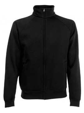 Fruit of the loom Black Track sweatshirt training  Jacket