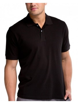 B&C Collection Cotton Safran Black Polo Shirts