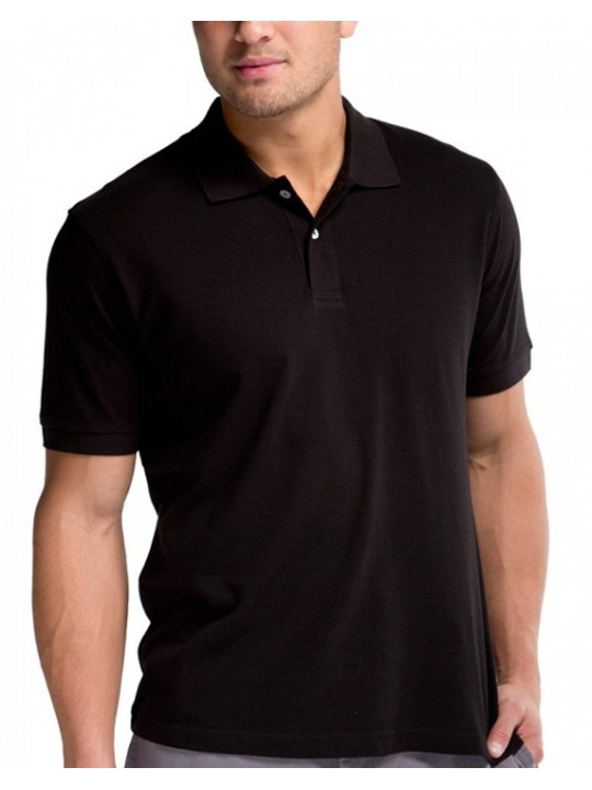 Classic poly cotton Black Polo Shirts 200 GSM 3cc2a408841c