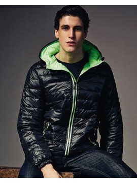 2786 Padded Jacket with Black and Green Inner Layer