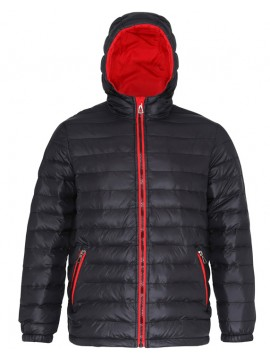 2786 Padded Jacket with Black and Red Inner Layer