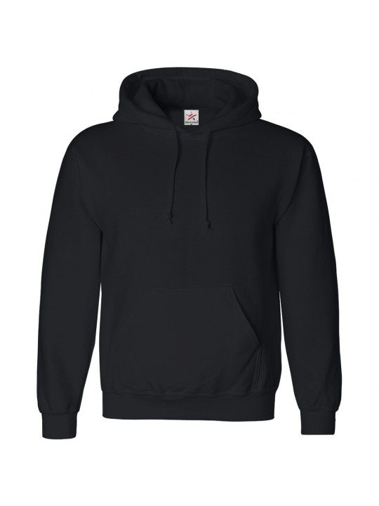 Plain Black Hoodie £5.25 Mens Black Hoodies Black Zip Hoody