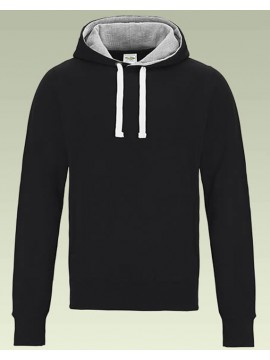AWD Black Chunky heavy duty hoodie Pullover Hooded Top