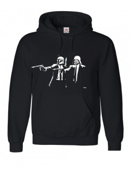Darth Pulp Fiction Printed Black Hoodie