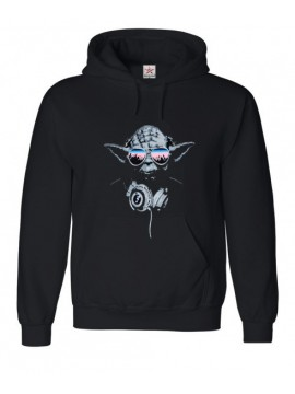 Black Hooded Top Yoda with Glasses