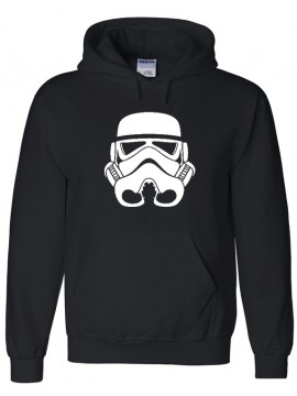Black Hoodie With White StormTrooper Helmet